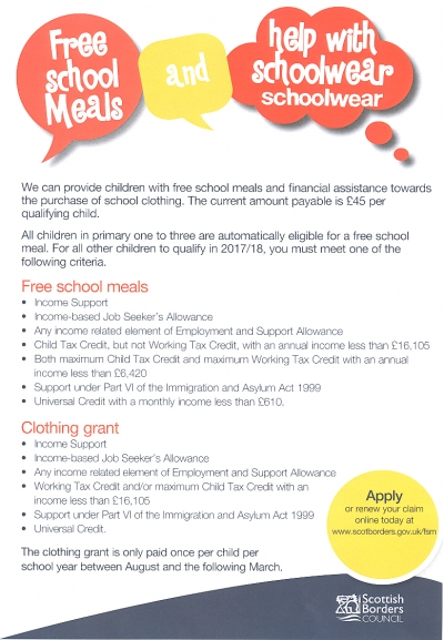 Free School Meals & Help with Schoolwear